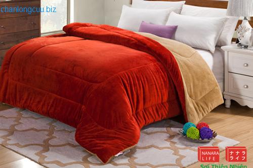 chăn lông cừu nhật bản chính hãng nanara màu đỏ cam 200x230cm