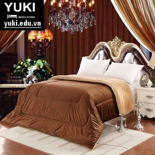 Chăn lông cừu Nhật Bản Yuki màu nâu chocolate
