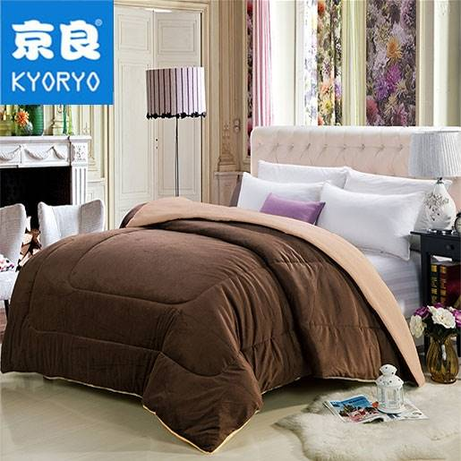 Chăn lông cừu kyoryo Nhật Bản màu nâu