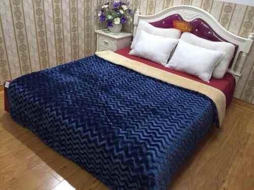 chăn lông cừu sóng vân HM by UK Thụy điển màu Tím Than