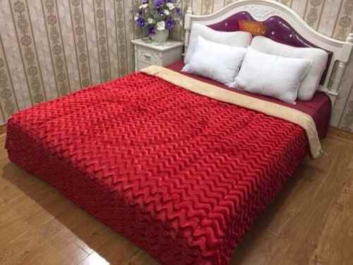 chăn lông cừu vân HM Màu đỏ tươi Thụy điển