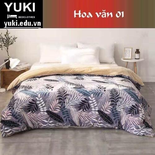 Chăn lông cừu Nhật Yuki Sanding hoa văn 01