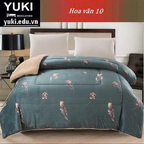 Chăn lông cừu Nhật Yuki Sanding hoa văn 10