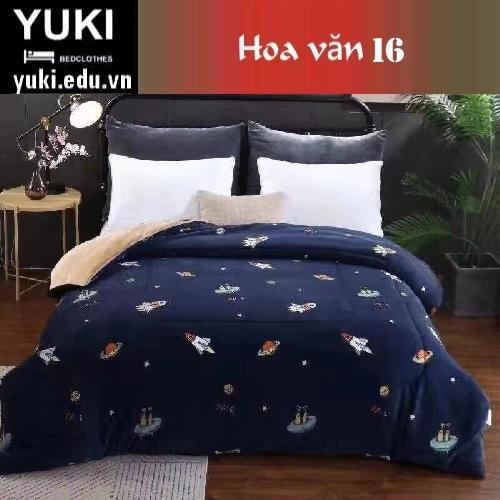 Chăn lông cừu Nhật Yuki Sanding hoa văn 16